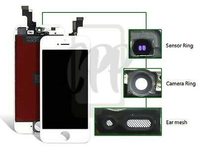 New Replacement + Touch Screen LCD Digitizer Assembly For iPhone 5S White CA