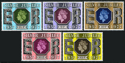 Great Britain 810-814, MLH. QE II Silver Jubilee of the Reign, 1977