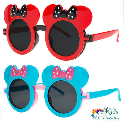 KIDS TODDLER GIRLS MULTI COLORS CLASSIC RETRO ROUND SUNGLASSES Mouse Ears SHADES