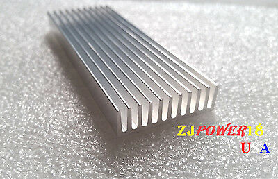 1pc 100*35*10mm Silver Aluminum Heat Sink for LED and Power IC Transistor