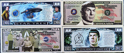 Star Trek & Spock FREE SHIPPING! Million-dollar novelty bill