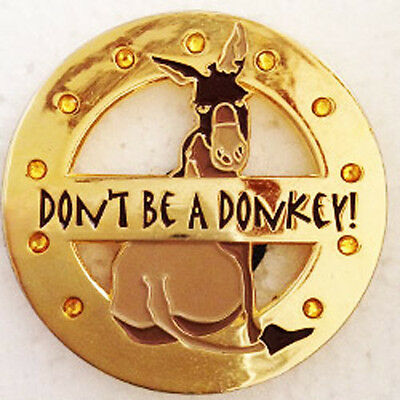 DON'T BE A DONKEY! Spinner Poker Card Guard Hand Protector NEW
