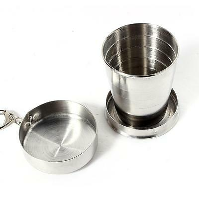 Camping-Küchenbedarf 140ml stainless steel portable outdoor travel folding collapsible cup telesco WH Sonstige
