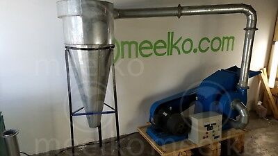 Hammer Mill With Cyclone 22Kw 3 Phase Electric Engine - Usa Stock