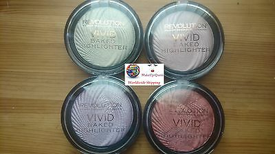 Makeup Revolution Vivid Baked Highlighter Highlighting Rose Gold, Peach, Golden