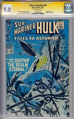 Tales To Astonish #98 White Pages Cgc 9.0 Ss Stan Lee Signed Cgc #1203809016