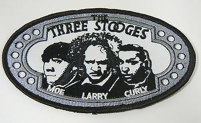 "THE THREE STOOGES 5"" Embroidered Iron-On Patch"
