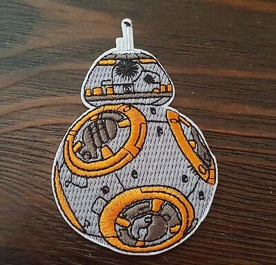 """BB-8 Star Wars Iron On Patch 3 1/2"""" x 2 1/2"""" Free Shipping US Seller"""