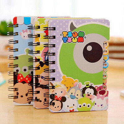 Cute Tsum Hard Cover Coil Book Pocket Notebook Diary Notepad Size S M L