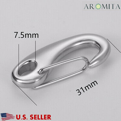 Stainless Steel Lobster Claw Clasp C SNAP Hook Clip Findings Supplies 31x15mm