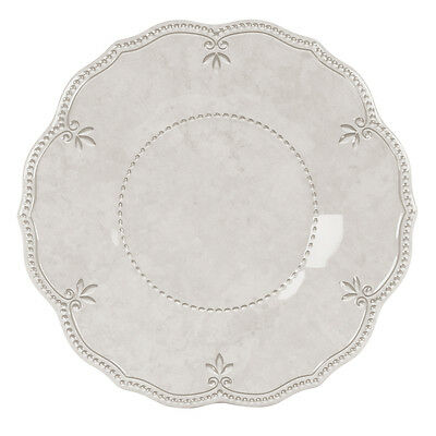 NEW Baci Milano Baroque & Rock Ivory Dinner Plate