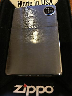 Zippo Genuine Windproof Lighter  Brushed Chrome 200