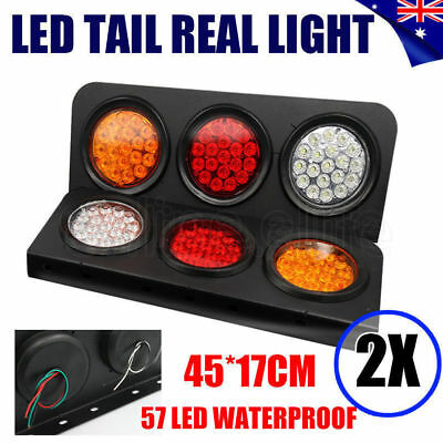 2X Led Tail Lights Truck UTE Trailer Stop Indicator 24V Pair Waterproof OZ STOCK
