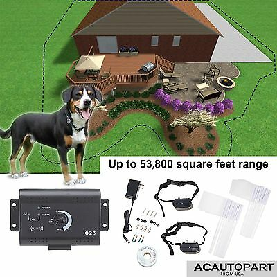 Dog PET Electronic Fence System With 2 3 Waterproof Shock Collars