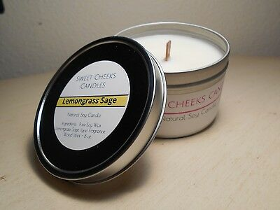 LEMONGRASS SAGE - Scented Soy Candle