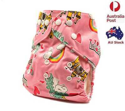 New Modern Cloth Nappies Baby MCN Reusable Adjustable One-Size-Fit-All (D118)