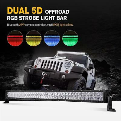 5D 42inch 800W CREE LED Light Bar MultiColor Changing Offroad Truck Boat SUV 50