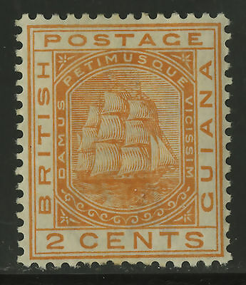 British Guiana  1882  Scott # 108  Mint Part Hinge Remnant