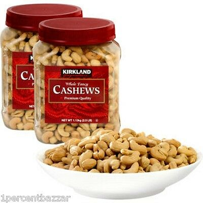 Kirkland Signature Extra Fancy Unsalted Whole cashews 1.13kg - MADE IN USA