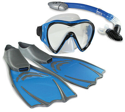 Land & Sea Coral Reef Explorer Adults Flippers Snorkel Mask sets