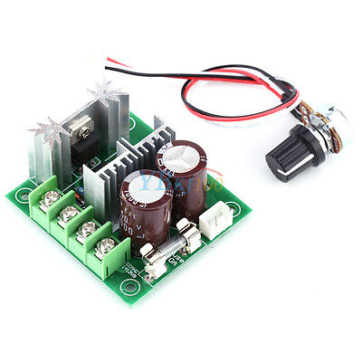 1x CCMHCW D 10A Adjustable 10%-100% DC Motor Speed Controller PWM Controller