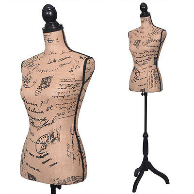 Light Brown Female Mannequin Torso Clothing Display W/ Black Tripod Stand New
