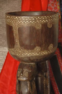Old Papua New Guinea Trobriand Islands Carved Hardwood Table / Pot Stand