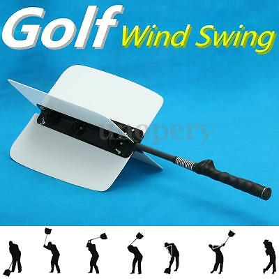 Golf Swing Power Fan Trainer Resistance Practice Training Aids Grip Guide White