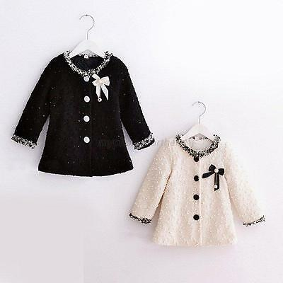 Baby Girls Autumn Winter Warm Jacket Trench Coat Kids Toddler Overcoat Outerwear