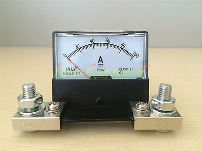DH-670 Analog Amp Panel Meter Current Ammeter  DC0-30A To DC 0-500A With Shunt