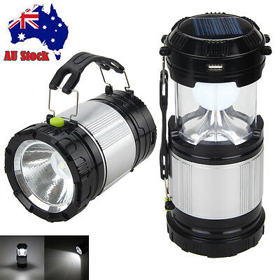 Rechargeable Solar Power LED Lantern Outdoor Indoor Night Light Lamp Torch Camp