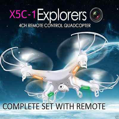 X5C-1 2.4Ghz 4CH 6Axis Gyro RC Quadcopter Drone UFO with HD Camera White hot
