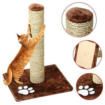 New Cat Scratch Post Activity Pole Centre Climbing Play Scratcher Toy Gray