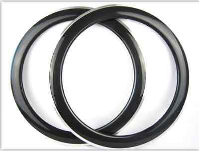 25mm width 60mm clincher carbon alloy bike rims 700C road bike use