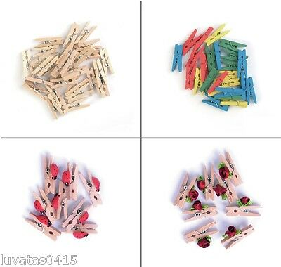 Pack Mini Wooden Clothes Craft Decorative Pegs Embellishments Photo Decor