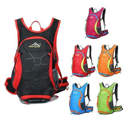 15L Bicycle Cycling Rucksack Backpack Hydration Pack Outdoor Water Bag E0Xc