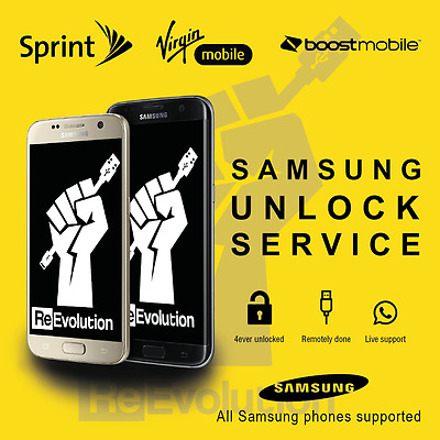Unlock srvice for Galaxy S7 SM-G930P and S7 Edge SM-G935P from Sprint and Boost