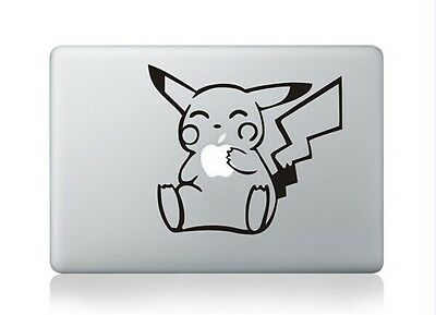 "Pikachu Apple Macbook Air/Pro 13"" Removable Vinyl Sticker Skin Decal Cover"
