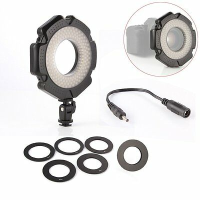 Dimmable R160 Studio Mini LED Ring Light Photograpy Video Lamp + 6 Adapter Rings