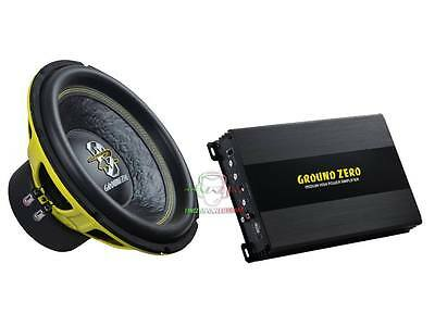 BassPack Ground Zero GZI Subwoofer da 30 + Amplificatore 1000 Watt