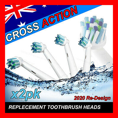 CROSS ACTION Oral B Compatible Electric Toothbrush Replacement Brush Heads x8