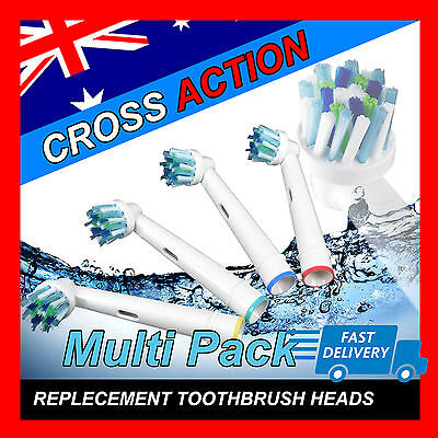CROSS ACTION Oral B Compatible Electric Toothbrush Replacement Brush Heads x20