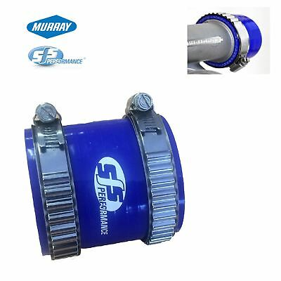"2.5"" Blue Silicone Coupling Connector & 2 Murray Turbo Constant Tension Clamps"