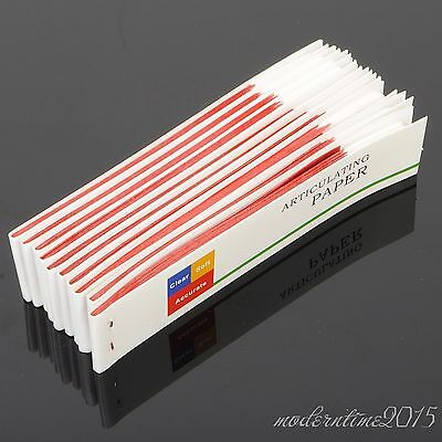 10 books Dental Articulating Paper Red Thin Strips Red Dental Supplies