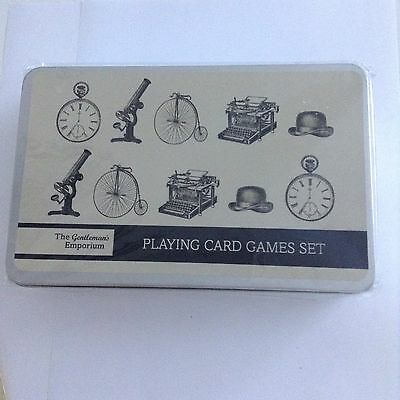 The Gentlemans Emporium Playing Cards, Dice And Book Set In A Tin, Retail £14.99