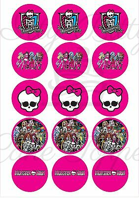 Edible Cupcake Toppers PRE CUT MONSTER HIGH - Highest Australian Quality