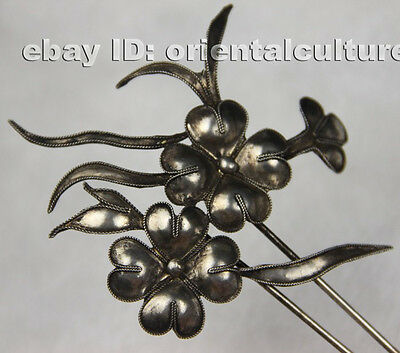 Chinese handmade miao silver filigree hairpin headgear (chinese ancient palace s