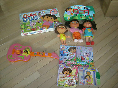 Dora The Explorer Chutes And Ladders Game Plus Guitar And Dolls