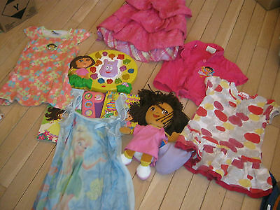 Lot Of Girls Clothes Size 2 Plus A Dora The Explorer Activity Toy, Doll And 2 Bo