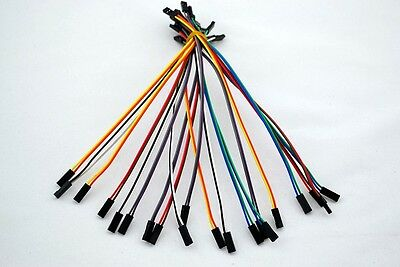 20pcs 2pin 20cm 2.54mm Female to Female jumper wire Dupont cable for Arduino